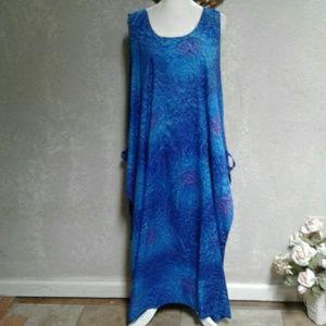 One Size * Rima  Blue Maxi Swim Coverup